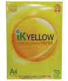IK Yellow A4 Paper 70gsm - 500 sheets